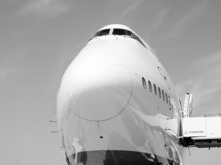 Black & White Airplane Art
